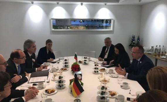 С германския министър Кристиан Шмид